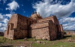Σαντιάγο de Pupuka Church σε Pukara, Περού στοκ εικόνες