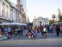 ΣΑΝΤΙΑΓΟ DE ΧΙΛΉ, ΧΙΛΉ, ΣΤΙΣ 12 ΦΕΒΡΟΥΑΡΊΟΥ 2017, Plaza de Armas, Χιλή, στις 12 Φεβρουαρίου 2017 Στοκ φωτογραφίες με δικαίωμα ελεύθερης χρήσης