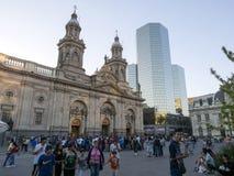 ΣΑΝΤΙΑΓΟ DE ΧΙΛΉ, ΧΙΛΉ, ΣΤΙΣ 12 ΦΕΒΡΟΥΑΡΊΟΥ 2017, Plaza de Armas, Χιλή, στις 12 Φεβρουαρίου 2017 Στοκ Εικόνες