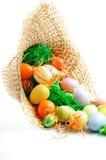 σανός καπέλων αυγών Στοκ εικόνα με δικαίωμα ελεύθερης χρήσης