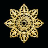 σαν ασημένιο snowflake προτύπων αστέρι Στοκ Εικόνα