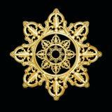 σαν ασημένιο snowflake προτύπων αστέρι Στοκ φωτογραφία με δικαίωμα ελεύθερης χρήσης