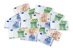 σαν ευρώ τραπεζογραμματίων ανασκόπησης Στοκ Εικόνα