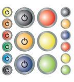 σαν διανυσματικά κύματα στροβίλου ανασκόπησης διακοσμητικά γραφικά τυποποιημένα Σύγχρονα κουμπιά τεχνολογίας Στοκ Εικόνες