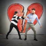 σαν καρδιά μπισκότων έννοιας σπασιμάτων Στοκ φωτογραφία με δικαίωμα ελεύθερης χρήσης