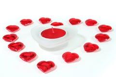 σαν κόκκινο καρδιών καρδ&iota Στοκ φωτογραφία με δικαίωμα ελεύθερης χρήσης