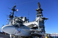 Σαν Ντιέγκο, Καλιφόρνια - ΗΠΑ - 04.2016 Δεκεμβρίου - αεροσκάφη 512 μουσείο USS Στοκ φωτογραφίες με δικαίωμα ελεύθερης χρήσης