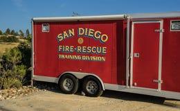 Σαν Ντιέγκο Firetruck στοκ εικόνες