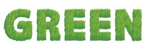 σαν πράσινη απεικόνιση χλόης Στοκ Εικόνα