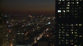Σαν Φρανσίσκο - κτήριο ηλιοβασιλέματος απόθεμα βίντεο