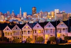 Σαν Φρανσίσκο τη νύχτα Στοκ Εικόνες