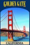 Σαν Φρανσίσκο, χρυσή γέφυρα πυλών, Καλιφόρνια Στοκ εικόνα με δικαίωμα ελεύθερης χρήσης