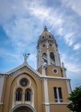 Σαν Φρανσίσκο de Asis Church σε Casco Viejo - πόλη του Παναμά, Παναμάς Στοκ Φωτογραφία