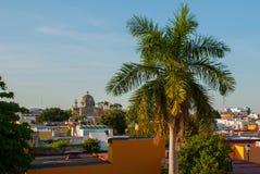 Σαν Φρανσίσκο de Campeche, Μεξικό: Άποψη του προηγούμενου καθεδρικού ναού του San Jose Ήταν ο κύριος ναός του μοναστηριού Jesuit, στοκ εικόνα
