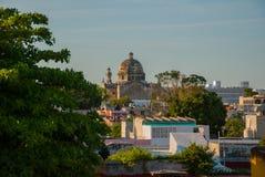 Σαν Φρανσίσκο de Campeche, Μεξικό: Άποψη του προηγούμενου καθεδρικού ναού του San Jose Ήταν ο κύριος ναός του μοναστηριού Jesuit, στοκ εικόνες με δικαίωμα ελεύθερης χρήσης