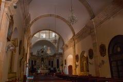 Σαν Φρανσίσκο de Campeche, Μεξικό Εσωτερικός καθεδρικός ναός Campeche στοκ εικόνες