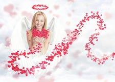 σαν cupid χαριτωμένη γυναίκα Στοκ φωτογραφίες με δικαίωμα ελεύθερης χρήσης