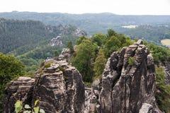 Σαξονικό εθνικό πάρκο της Ελβετίας Στοκ εικόνα με δικαίωμα ελεύθερης χρήσης