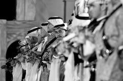 Σαουδαραβική απόδοση λαογραφίας σε Al-Masmak στο celebrati στοκ εικόνα