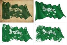 Σαουδαραβική σημαία Στοκ φωτογραφία με δικαίωμα ελεύθερης χρήσης