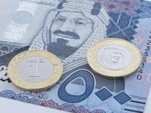 Σαουδικό Riyal 500 τραπεζογραμμάτιο και νέο νόμισμα Στοκ φωτογραφίες με δικαίωμα ελεύθερης χρήσης