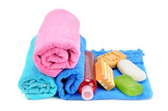σαπουνίστε τις πετσέτες Στοκ Εικόνα