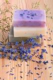 Σαπούνια και lavender Στοκ εικόνες με δικαίωμα ελεύθερης χρήσης
