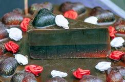 Σαπούνι κέικ περικοπών Στοκ Φωτογραφία