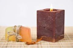 Σαπούνι και κερί Στοκ Φωτογραφία