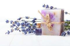 Σαπούνι με lavender Στοκ εικόνες με δικαίωμα ελεύθερης χρήσης
