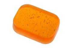 Σαπούνι φραγμών γλυκερίνης με τις χρυσές νιφάδες Στοκ Φωτογραφίες