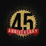 Σαράντα πέντε έτη εορτασμού επετείου logotype 45ο λογότυπο επετείου Στοκ Φωτογραφίες