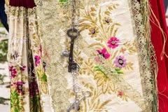 Σαρδηνιακό παραδοσιακό κοστούμι στοκ φωτογραφίες