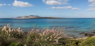 Σαρδηνιακό τοπίο της παραλίας Λα Pelosa, Ιταλία Στοκ Εικόνες
