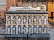Σαρκοφάγος της βασίλισσας Margaret I στον καθεδρικό ναό του Ρόσκιλντ, Δανία στοκ φωτογραφία με δικαίωμα ελεύθερης χρήσης