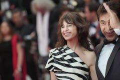 Σαρλόττα Gainsbourg και Javier Bardem α στοκ εικόνα