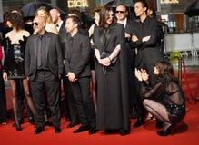 Σαρλόττα Gainsbourg, Beatrice Dalle, Anthony Vaccarello στοκ εικόνες