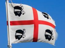 Σαρδηνία Παλαιά σημαία που τυλίγει Στοκ Εικόνες