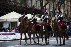 Σαρδηνία. Carabinieri στην πλάτη αλόγου Στοκ Φωτογραφίες