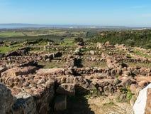 Σαρδηνία Carbonia Monte Sirai Στοκ Εικόνες