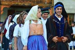 Σαρδηνιακοί χορευτές Στοκ Εικόνα