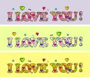 σας αγαπώ αποκλειστικό σχέδιο ημέρας 3 χαριτωμένο ευτυχές βαλεντίνων Αγάπη & ζωή να είστε ο βαλεντίνος μο& Η κάρτα βαλεντίνων σ'  ελεύθερη απεικόνιση δικαιώματος