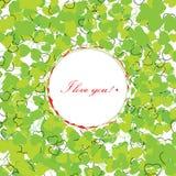 σας αγαπώ Ευχετήρια κάρτα με τις διακοσμητικές καρδιές Στοκ Φωτογραφία