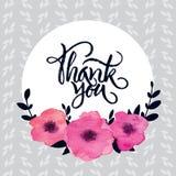 «Σας ευχαριστήστε» λαναρίζει Στοκ Εικόνες