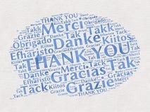 Σας ευχαριστούμε λέξεις στις διαφορετικές γλώσσες Στοκ φωτογραφία με δικαίωμα ελεύθερης χρήσης