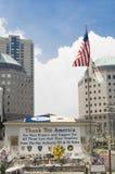 Σας ευχαριστούμε Αμερική - μνημείο για WTC Στοκ εικόνα με δικαίωμα ελεύθερης χρήσης