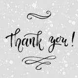 Σας ευχαριστούμε λαναρίζει το διανυσματικό πρότυπο Γράφοντας μάνδρα βουρτσών χεριών σύγχρονη Στοκ Φωτογραφίες