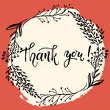 Σας ευχαριστούμε λαναρίζει το διανυσματικό πρότυπο Γράφοντας μάνδρα βουρτσών χεριών σύγχρονη Στοκ εικόνες με δικαίωμα ελεύθερης χρήσης