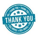 Σας ευχαριστούμε διακριτικό Μπλε διανυσματικό γραμματόσημο Eps10 στοκ φωτογραφίες με δικαίωμα ελεύθερης χρήσης