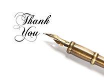 Σας ευχαριστούμε. εκλεκτής ποιότητας πέννα μελανιού Στοκ φωτογραφία με δικαίωμα ελεύθερης χρήσης